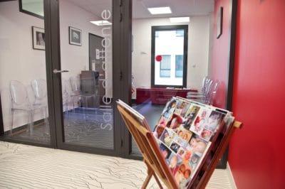 Salle d'attente Centre FIV à Montpellier
